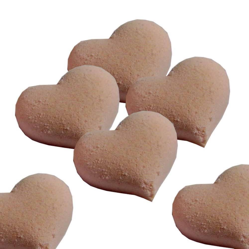 Pink Bath Bomb Hearts Set of 6