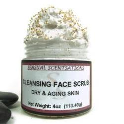 Cleansing Face Scrub Dry Aging Skin